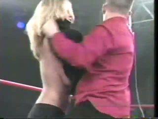 Extreme Wrestling Nip Slip!