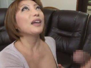 可愛的 和 辣 中國的 reiko kagami giving 一 角質 舔
