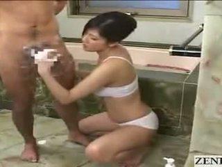 Japonesa mãe gets ejaculação na cara