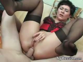 anal, lencería, mamá