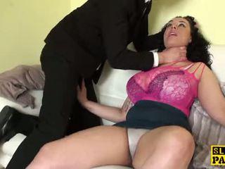 Debelušne britanke sub izkušene težko s moški dominacija