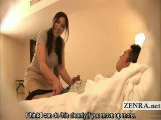 Subtitled japonesa milf masseuse indecent hotel massagem