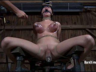 Гаряча дівчина gets tied жорсткий