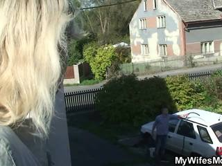 Doggy-fucking Old Blonde Mother Inlaw Outdoor: Free Porn d9