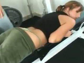Loretta Loren gets fucked at the gym