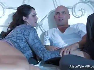 cum shot, shaved, big tits