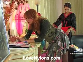 Judith And Irene Stockings Paramours Inside Action