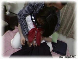 Asiática aluna having louca intercourse