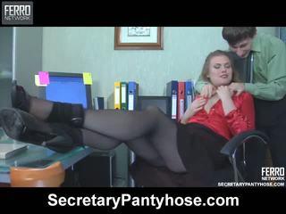 Alana charley thư ký pantyhose phim