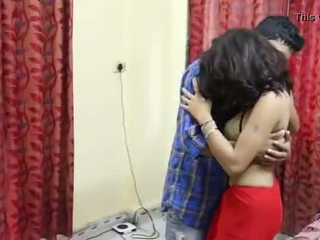 Desi Milf's boobs fondled really hard by salesman ## Hindi Hot Short Film