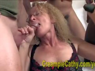 Cathy gets masivní creampies