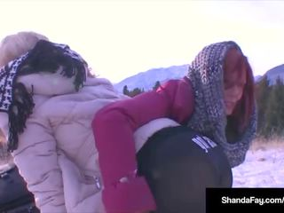 Hot Wife Shandafay Strapon Fucks Monica Milf in the Rockies!