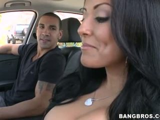 Busty babe gets doggstyle sex