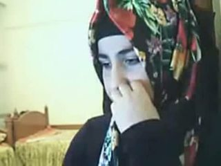Hijab فتاة عرض الحمار في كاميرا ويب arab جنس أنبوب