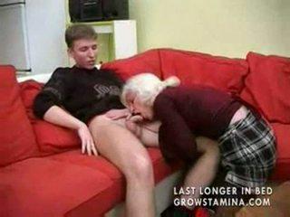 jævla, bestemor, blowjob