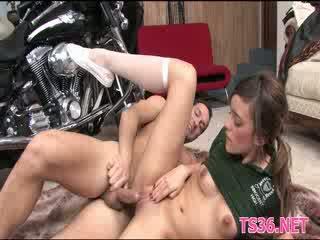 Slut enjoys a big cock