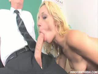 Amazing blonde sucking cock