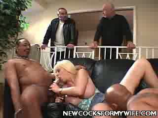 Blondie Wife Enjoys Interracial nailing