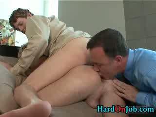 grande, cazzo, suzione