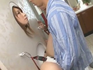 Asian AV XXX Star Licks Meat Stick