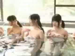 Naked young Japanese hotties in swim class Video