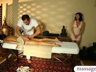 brunette, fantaisie, massage