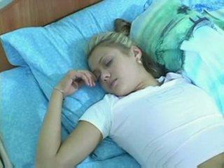 jovem, namorado, cama