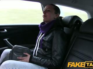 Faketaxi negra haired nena fucks cab driver