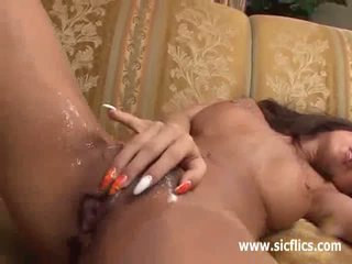 Young Jap babe fist fucked in her destroyed pussy