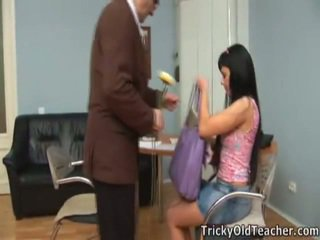 Hot Sweetheart Olesya Drills With Her Teacher.