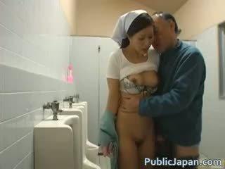 japonais, voyeur, interracial