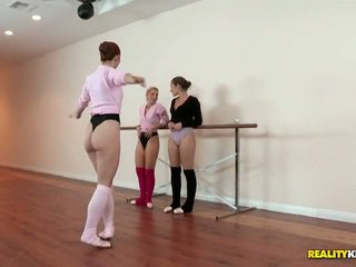 Lesbian Ballet Class For Dani Daniels And Ashley Fires