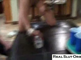 brunette, college, reality video