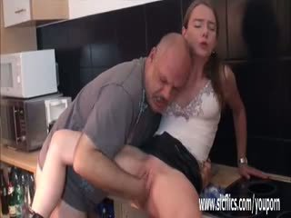 Teen girl fist fucked by an old pervert