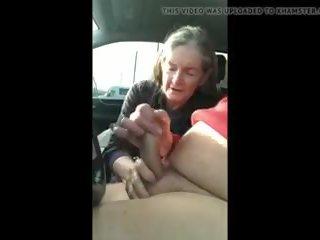 grannies, handjobs, cum swallowing