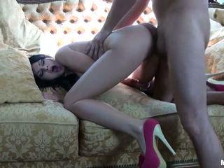 brunette, sucking cock, mofos