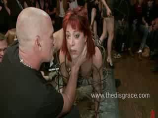 Odile has anal sex in bondage in a cage
