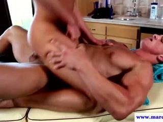 Six pack amateur jock fucks gay masseur