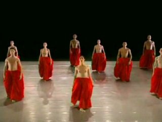 Naakt dansen ballett groep