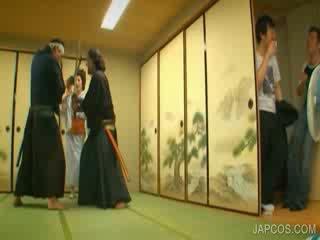 ओरिएंटल geisha shows टिट्स और कंट