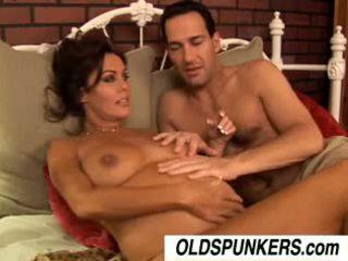 cumshots, veľké prsia, brunetky