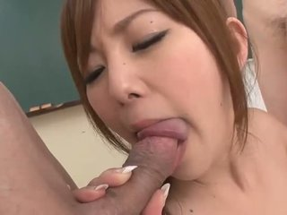 Sexy Asian gal gets DPed