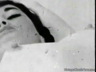 vintage tits busty, retro-porno, weinlese-sex