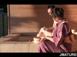 Madura japonesa semental en mood para un multa slick geisha coño