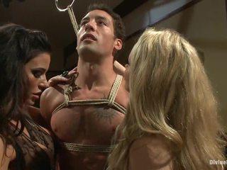 group sex, cbt, femdom