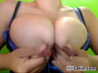 Busty Latina Squeezes Out Some Milk