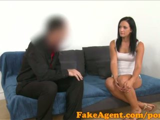 FakeAgent Black haired german babe wants to be a glamour model - Porn Video 441