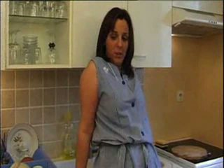big tits, maid, kitchen