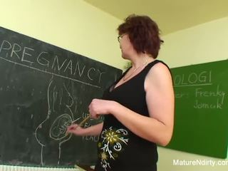 Student fucks his much older teacher