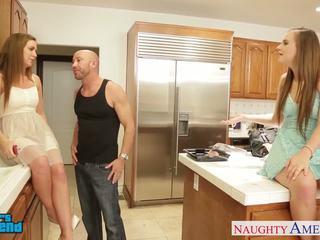 Hot girls Jillian Janson and Maddy OReilly sharing cock